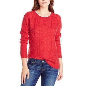 Woolrich Cable-Knit Mohair Wool Blend Sweater
